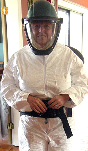 Lynn Branson Dressed for Some Serious Work in her Studio!